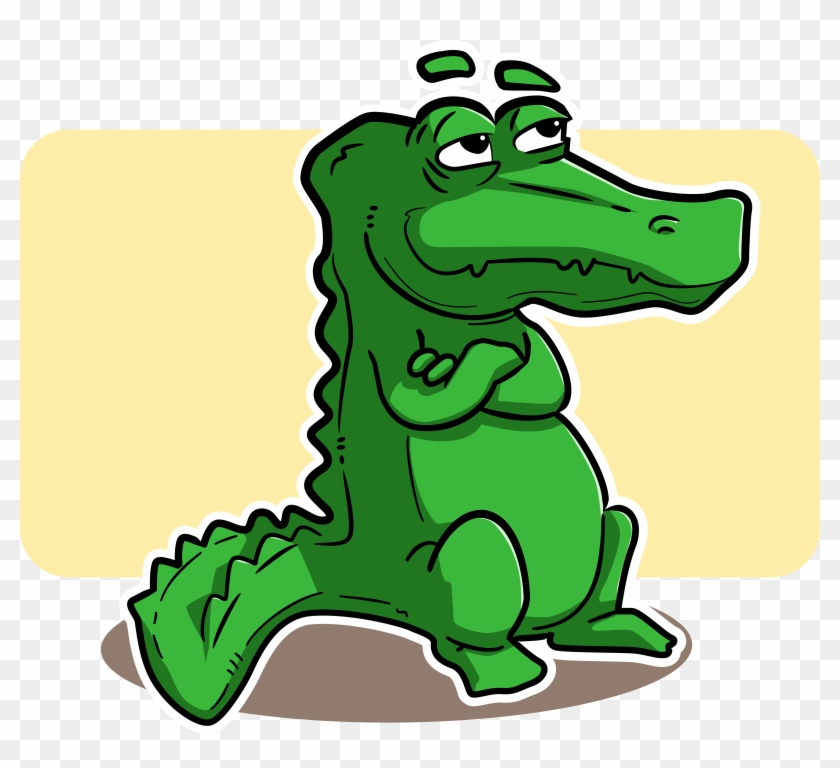Alligator Cartoon Art - Crocodile Cartoon Png #144474