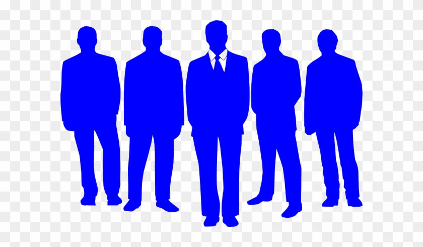 Group Of People Free Clipart - Group Of Blue People #144586