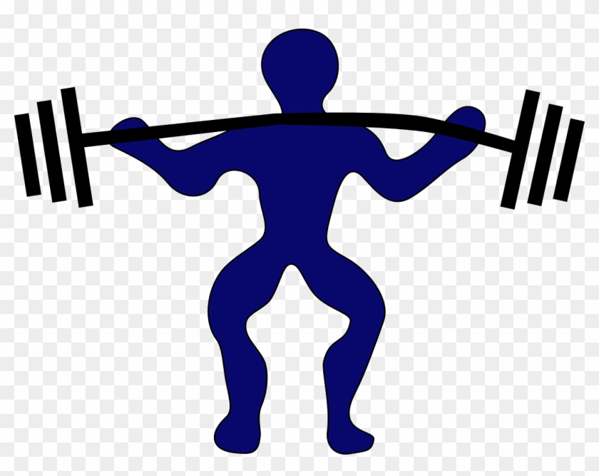 Weight Lifter Weight Fitness Body Exercise Strong - Weight Lifting Clip Art #144826