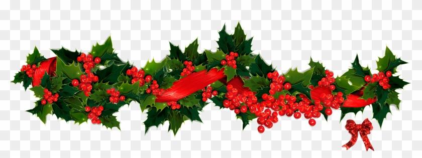 christmas garland clip art 09 holly - Free Christmas Clipart