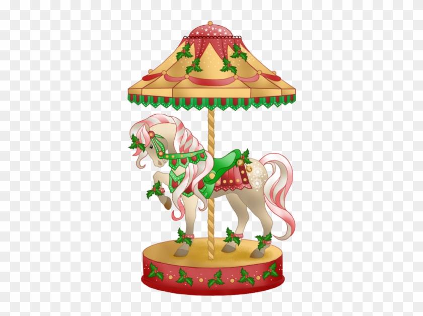 Christmas Carousel Horse Clip Art - Carousel Animated Transparent Background #145554