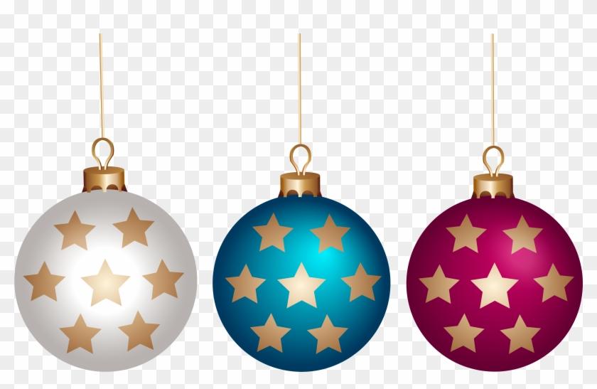 Christmas Ball Set Png Clip Art - Clip Art #145728