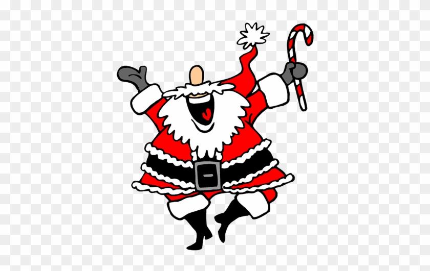Funny Santa Christmas Image Reindeer Free Public Domain - Dancing Santa Animated Gif #145721