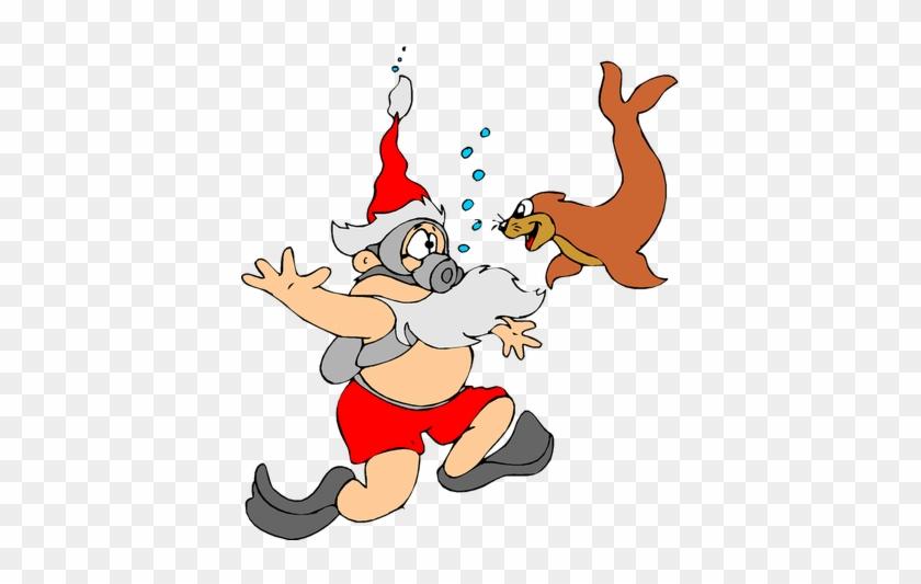 Funny Santa Christmas Image Reindeer Free Public Domain - Santa Stainless Steel Travel Mug #145732