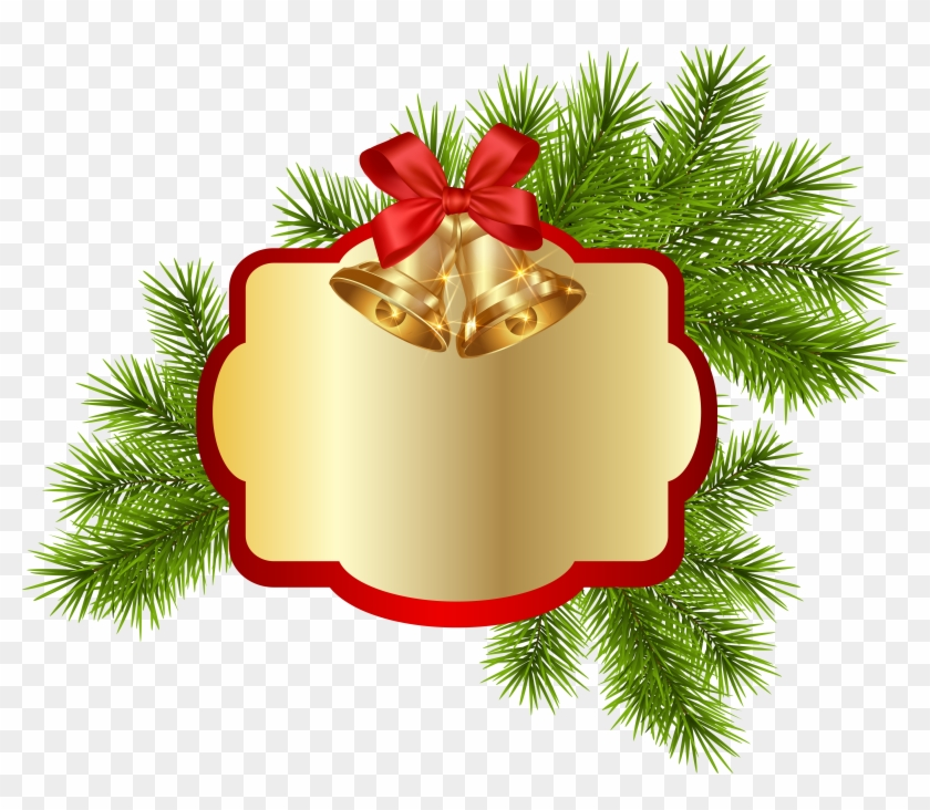 Christmas Blank Decor With Bells Png Clipart Image - Christmas Day #145784