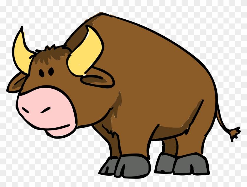 Free To Use Public Domain Bull Clip Art - Bull Cartoon #145788