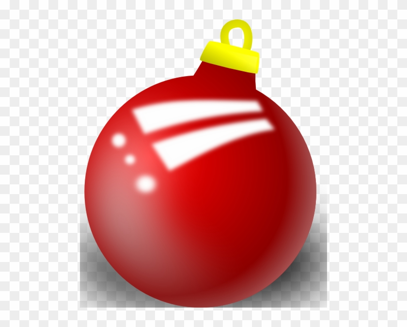 Xmas Ornament Shiney Ball Clip Art At Clker - Red Decoration Ball Shower Curtain #145832