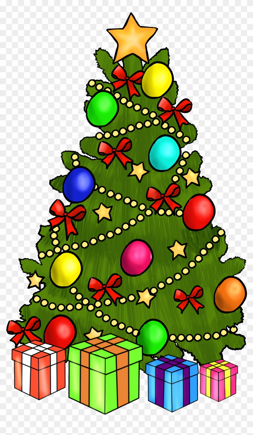 Christmas ~ Christmas Clipart Free Clip Art Printable - Christmas Tree Clip Art With Presents #145866