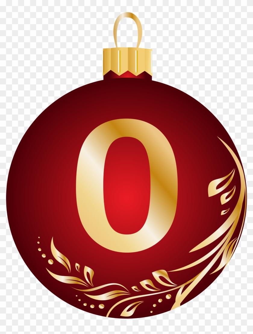 Christmas Ball Number Zero Transparent Png Clip Art - Christmas Ball Number #145870