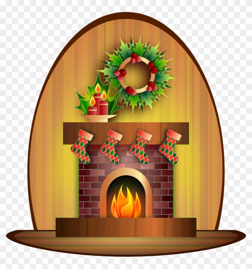 Christmas Fireplace By Viscious Speed Christmas Fireplace - Season's Greetings Card With Stockings On Fireplace/custom #145973