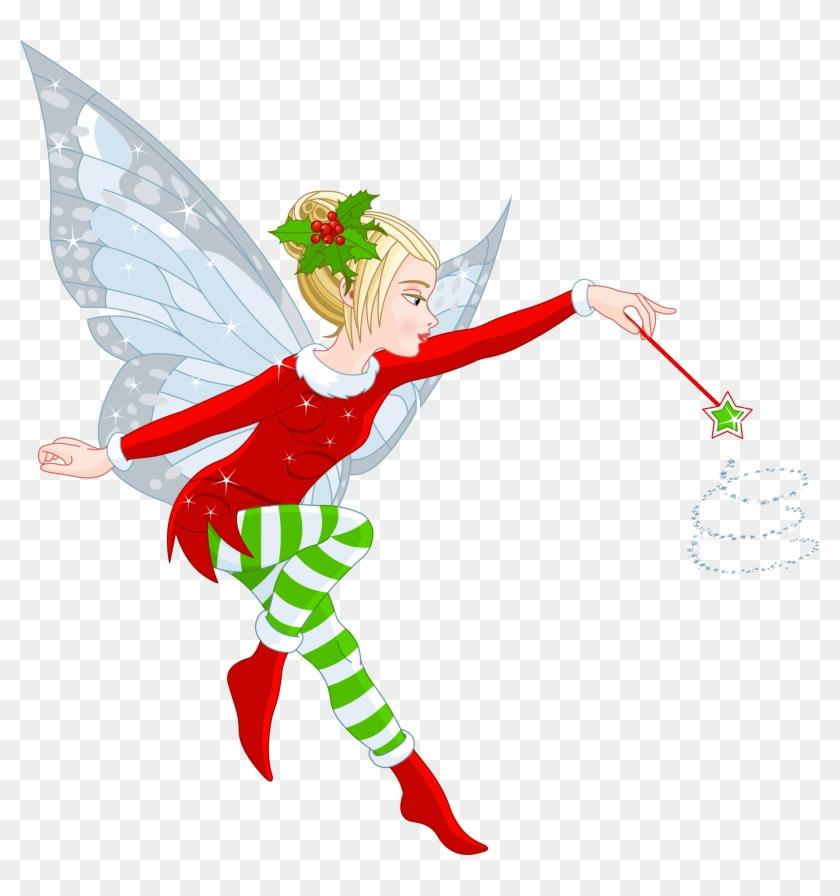 Transparent Christmas Elf Girl Png Clipart - Christmas Fairies #146099