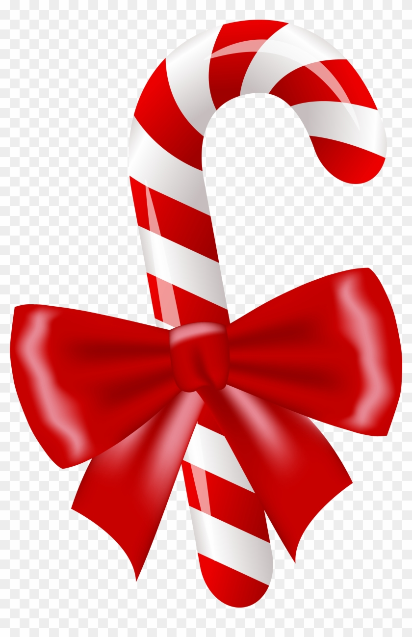 Candy Cane Clipart Christmas Present - Christmas Candy Cane Png #146230