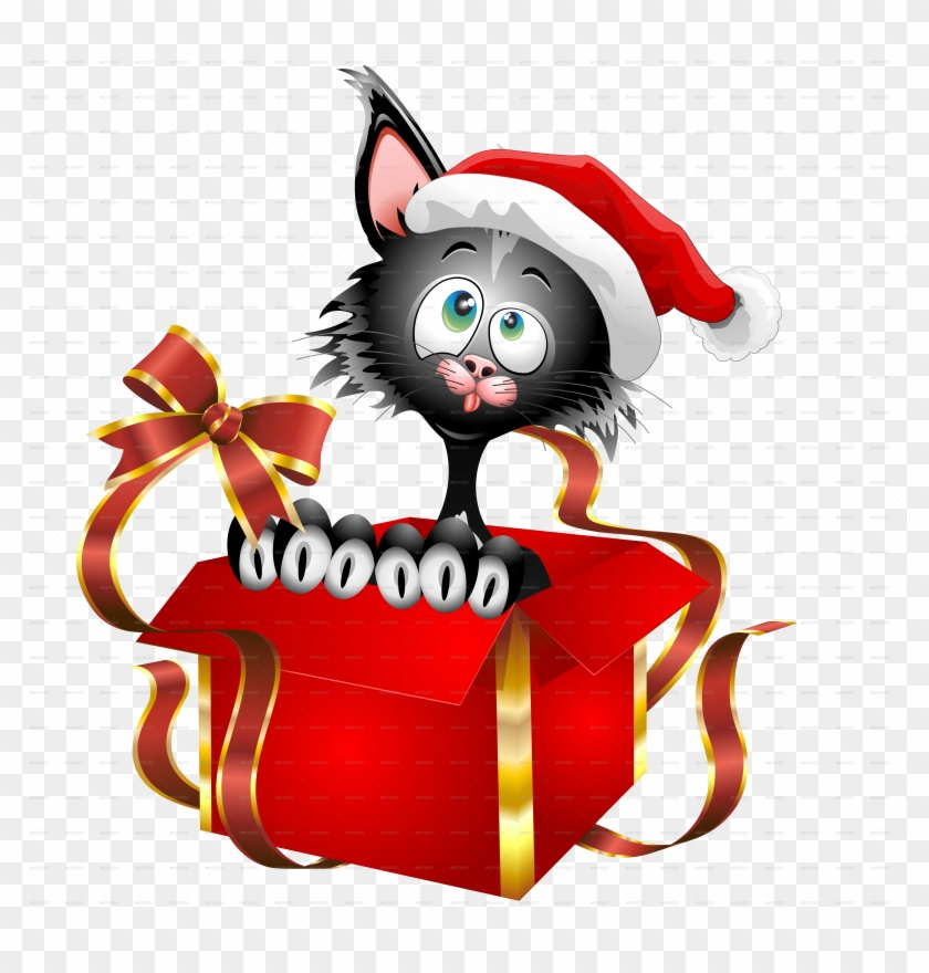 Cat Cartoon Christmas Gift-jpeg 2000 - Funny Cat Cartoon ...