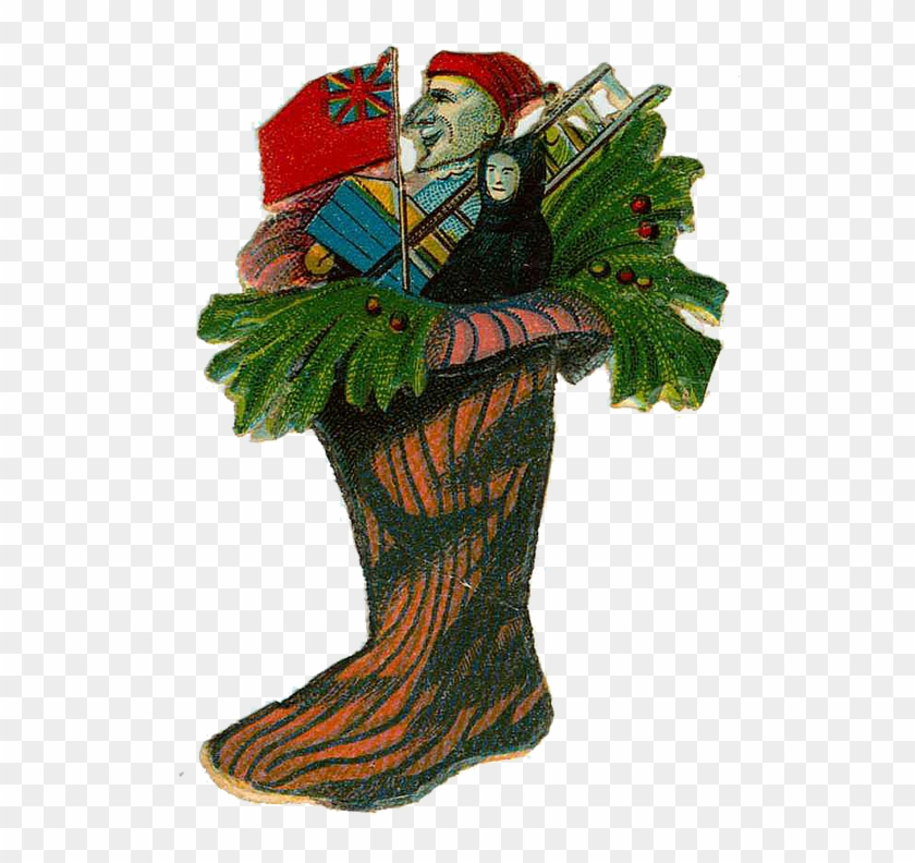 Victorian Christmas Stockings.Vintage Victorian Christmas Die Cut Clip Art Day Six Clip