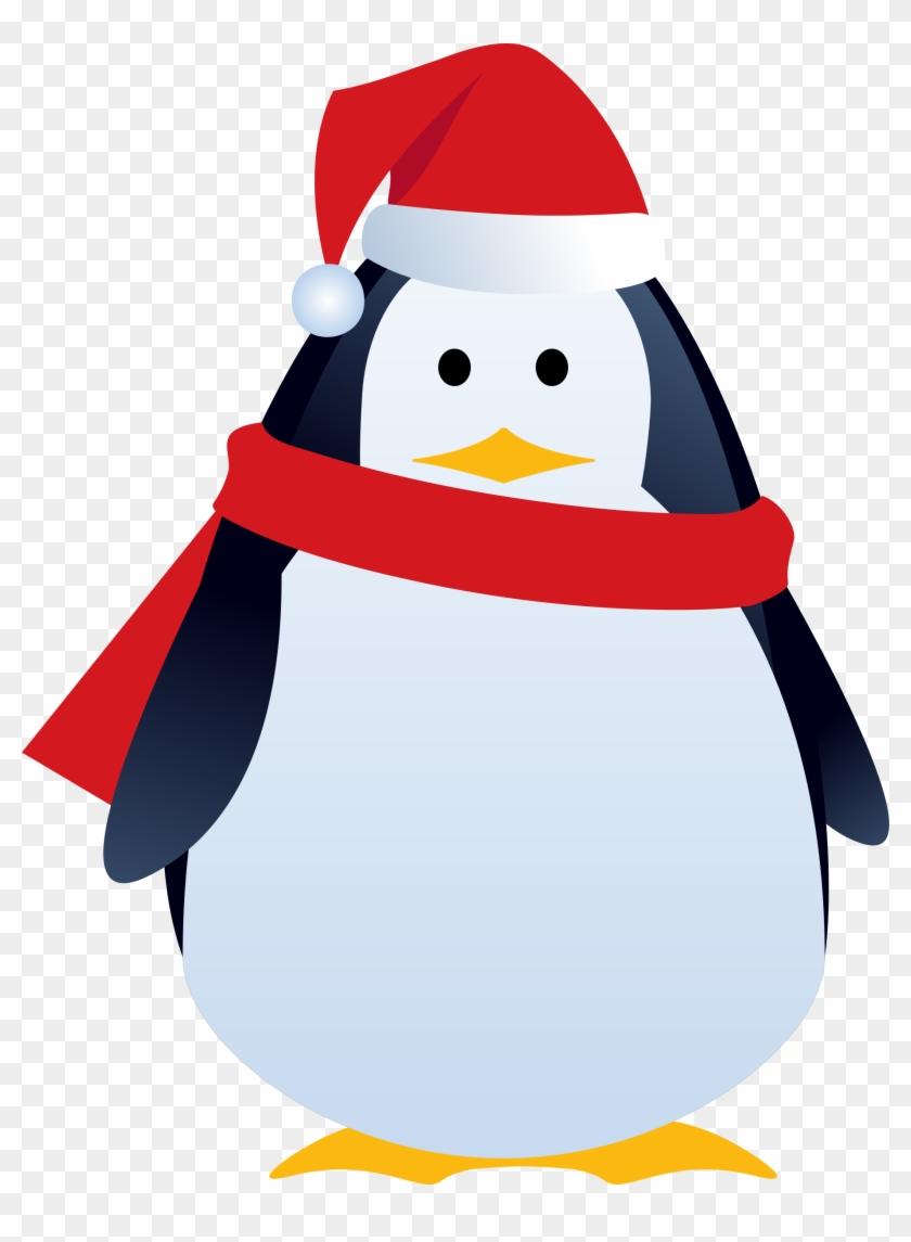 Clipart Of Christmas Penguins Penguin - Clip Art Christmas Penguin #146327