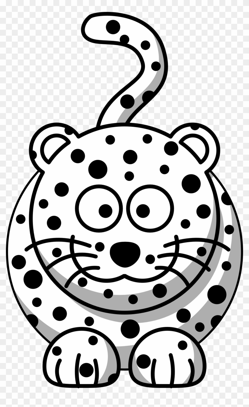 Leopard Clipart Christmas - Coloring Book Leopard #146413