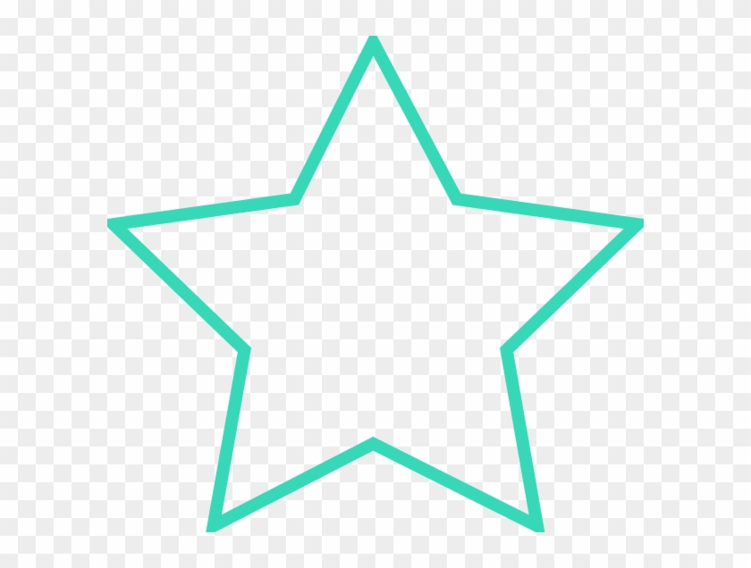Thick Turquoise Star Clip Art - Star Breathing #146493