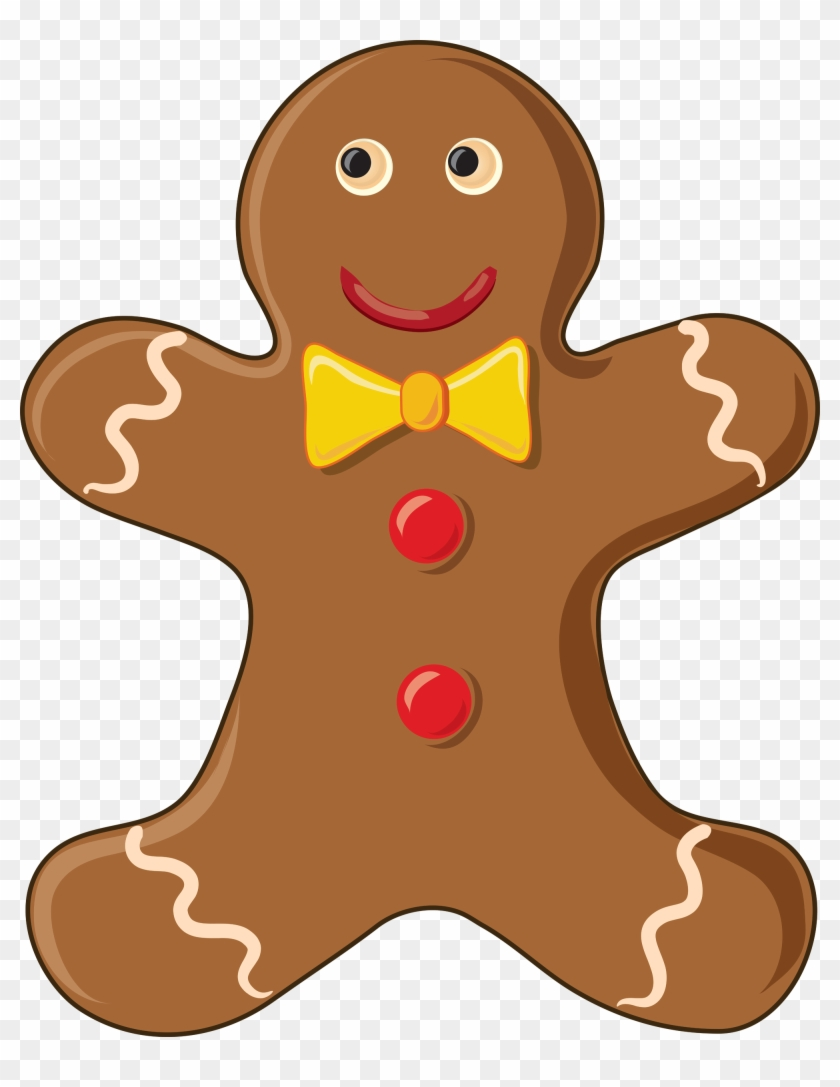Gingerbread Man Free Content Biscuits Clip Art - Gingerbread Man Cookie Clipart #146929