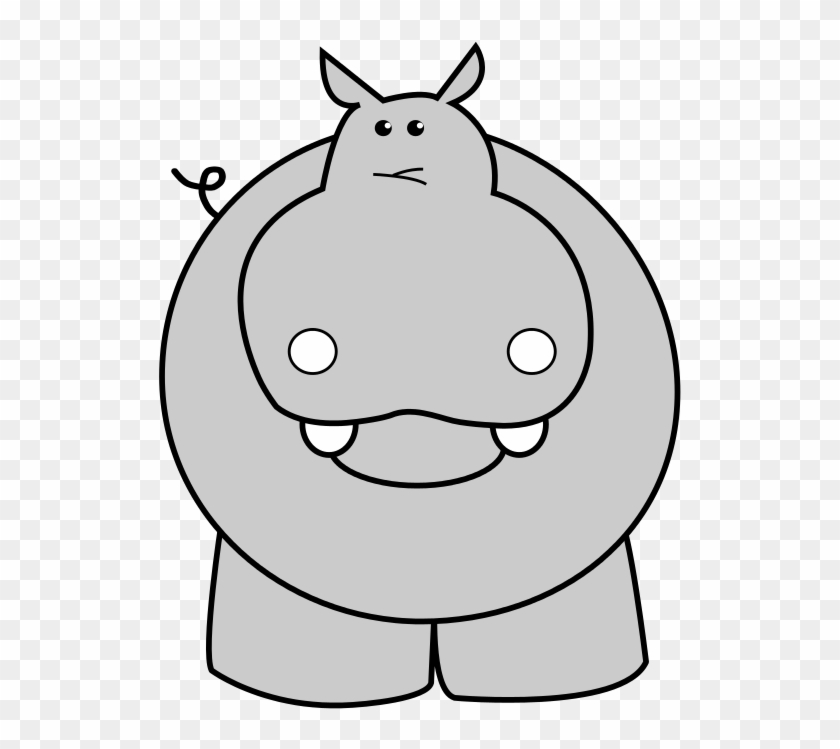 Adult Baby Hippo Coloring Page For Kids Baby Animal - Hippopotamus Clipart #769692