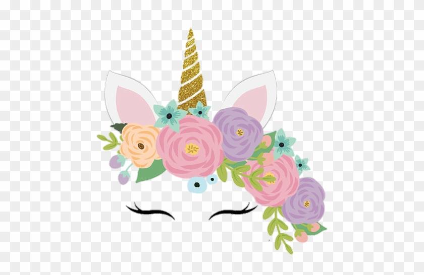 Unicorn Unicornio Cute Colorful Flowers Face Pastel - You Are Invited Unicorn Party #771076