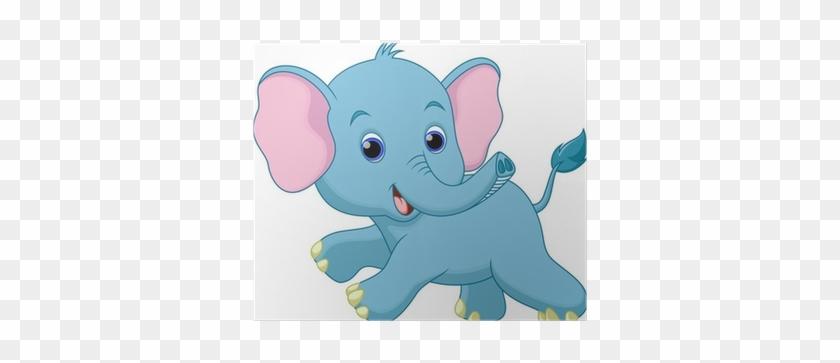 Baby Elephant Running Cartoon #771430