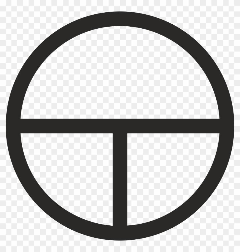 Big Image - Circle With Horizontal Line Through #771464
