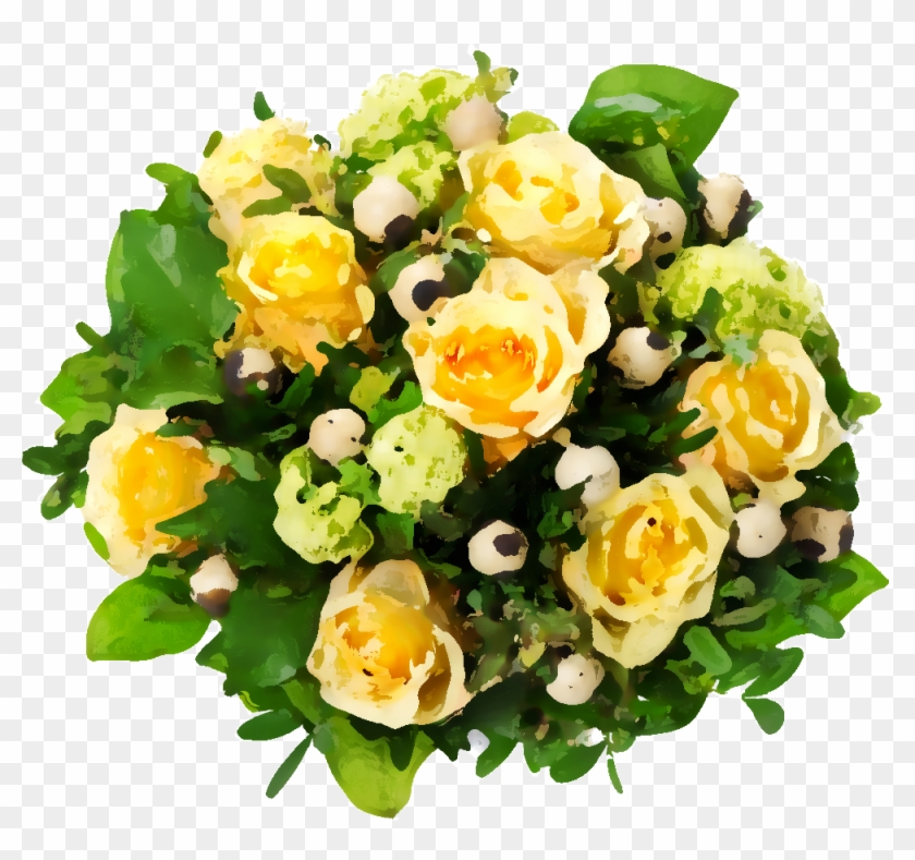 Png形式でダウンロード - Flowers Bouquet Roses Yellow #771689