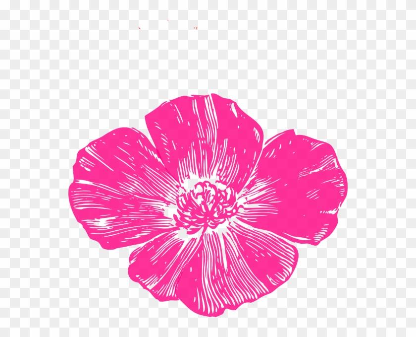 Pink Poppy Flower Clip Art #772055