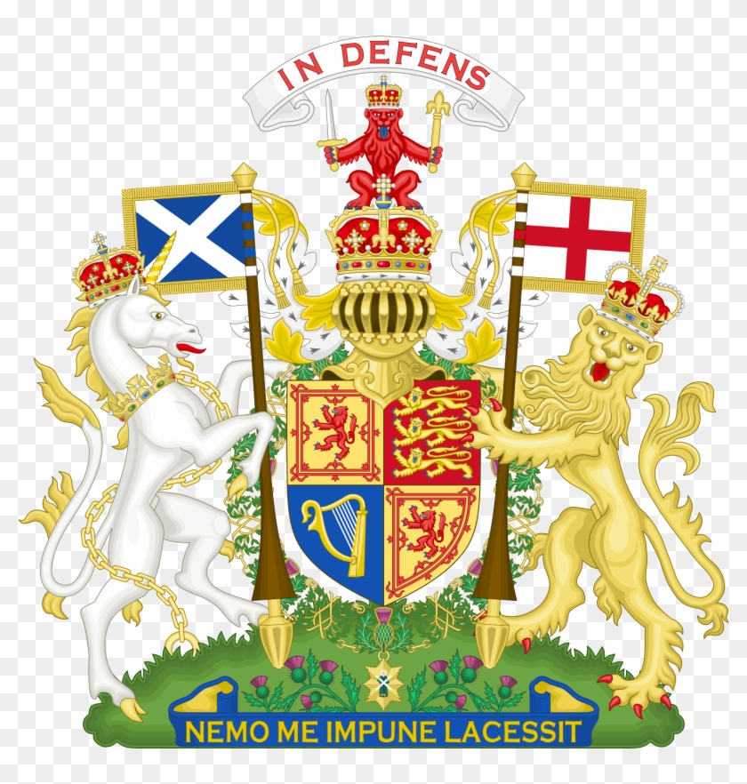 The Version Of The Uk Royal Coat Of Arms Used In Scotland - Unicorn National Animal Of Scotland #772747