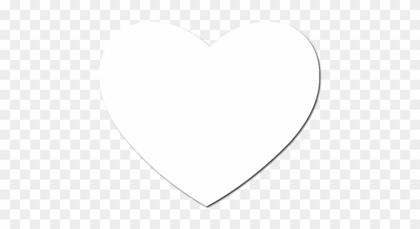 Heart Valentine Shaped Mousepad - Heart Icon Png White #772815
