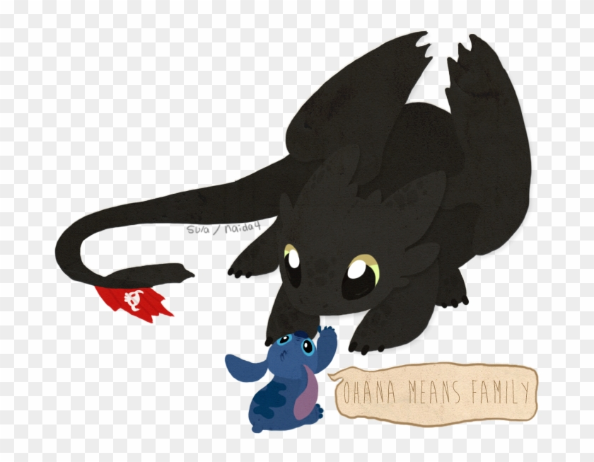 Baby Night Fury Toothless And Stitch Cute Free Transparent Png Clipart Images Download