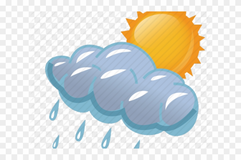Storm Clipart Cloudyday - Sunny And Rainy Weather #775207