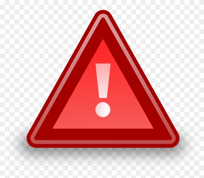 Attention, Warning, Exclamation Mark, Mark, Red, Icon - Urgent Clip Art #775645