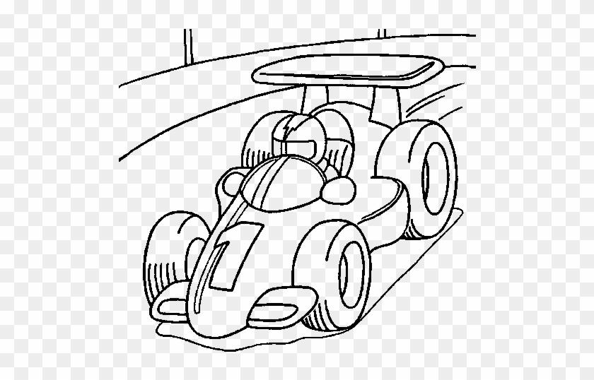 Dibujos Animados Para Niños Carro De Carreras Para Colorear Free