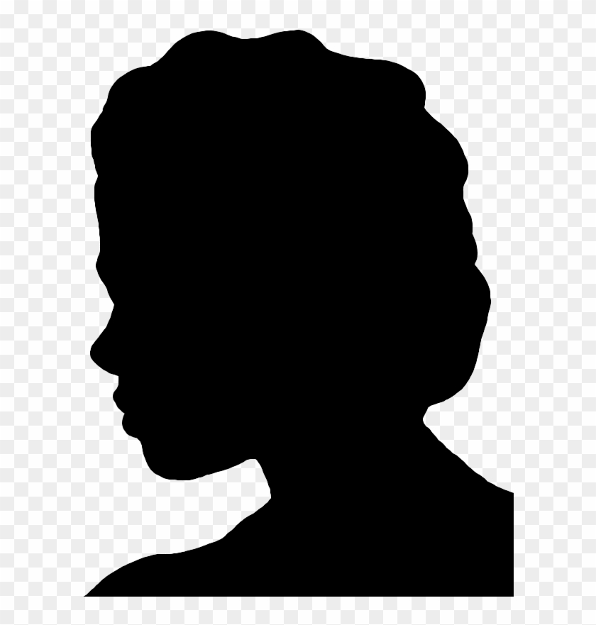 Face Silhouettes Of Men, Women And Children - Old Woman Profile Silhouette #776287