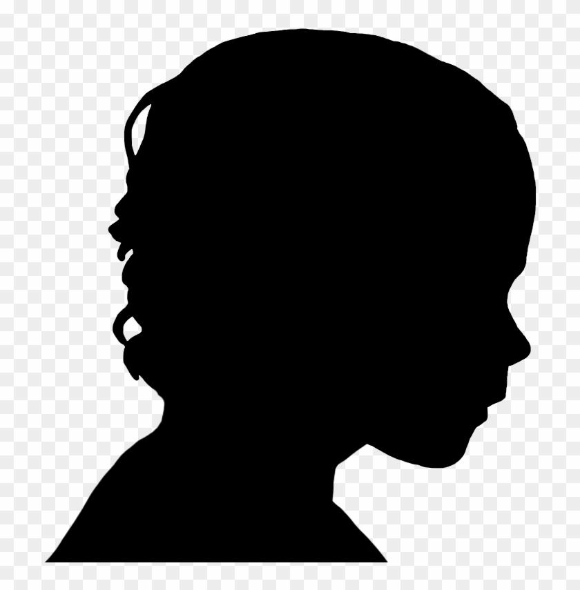 Face Silhouettes Of Men, Women And Children - Male Head Profile Silhouette