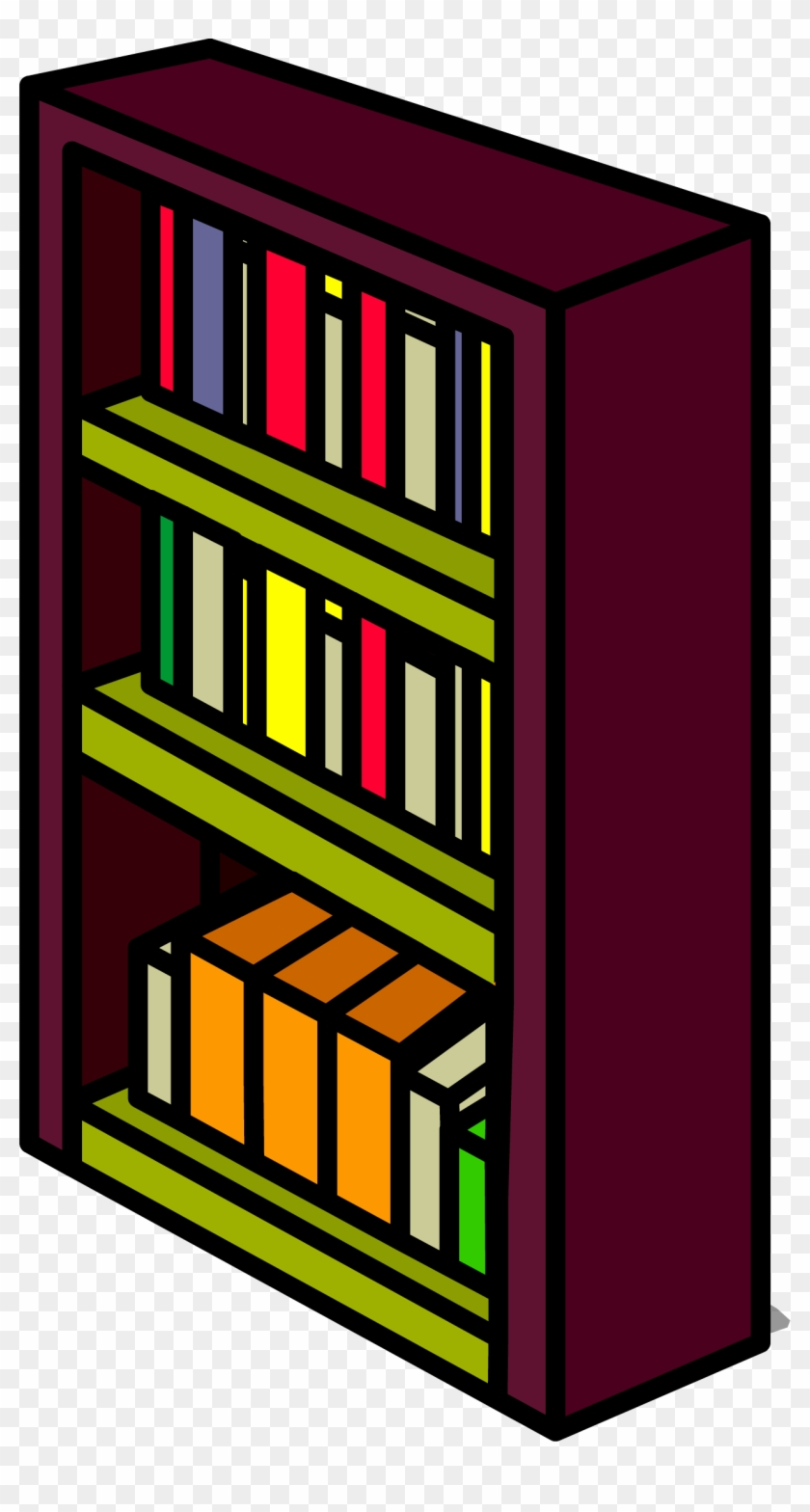 Burgundy Bookshelf Sprite 006 - Bookcase #776347