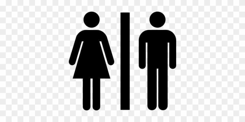 Female Male Public Bathroom Symbol Sign Ba Toilet Icon Free