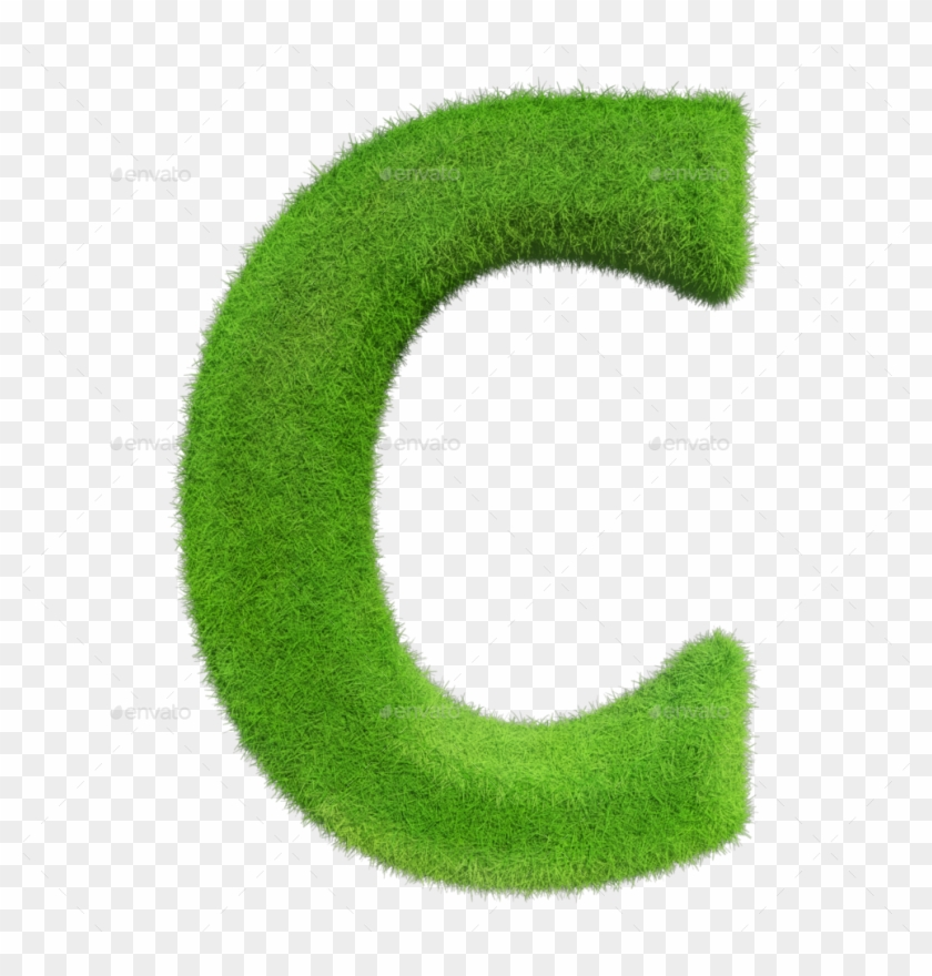 Grass Alphabet - Green Grass Lettering Alphabet Png #778465