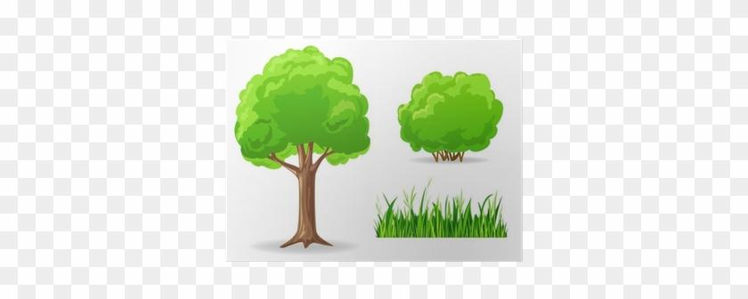 Tree, Bush, Grass - Cartoon Bushes - Free Transparent PNG Clipart
