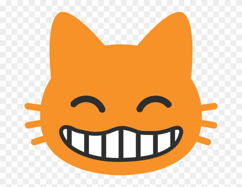 This Text Was Added Here Automatically, To Create Vertical - Grinning Cat Face With Smiling Eyes #778851