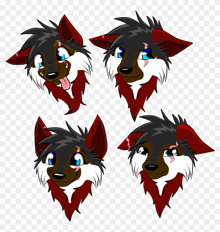 Chakuras Face Expressions By Chakura Tomboy Wolf - Anime Wolf Face Expressions #778868