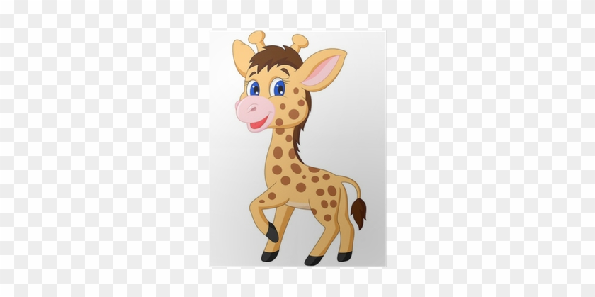 Cute Cartoon Baby Giraffe #779100