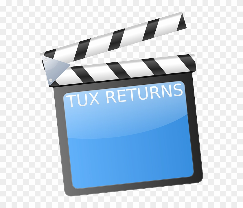 Clapboard, Clapperboard, Movies, Action - Film Strip Clip Art #779231