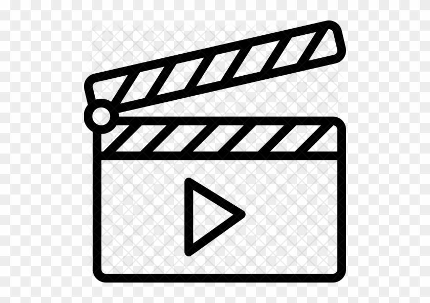Play Clapper Icon - Movie Video Icon #779398