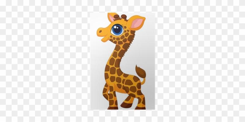 Cute Baby Giraffe Cartoon #779414