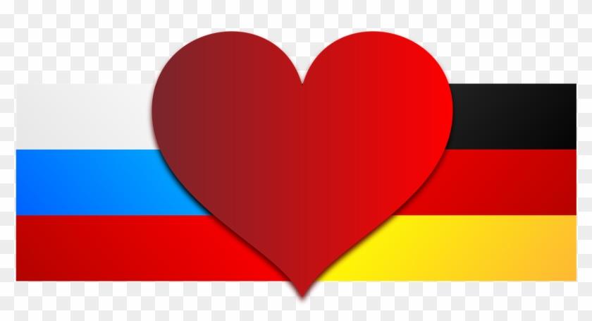 Germany, Russia, Germany, Flag, Love, Heart - Russia Germany #781186