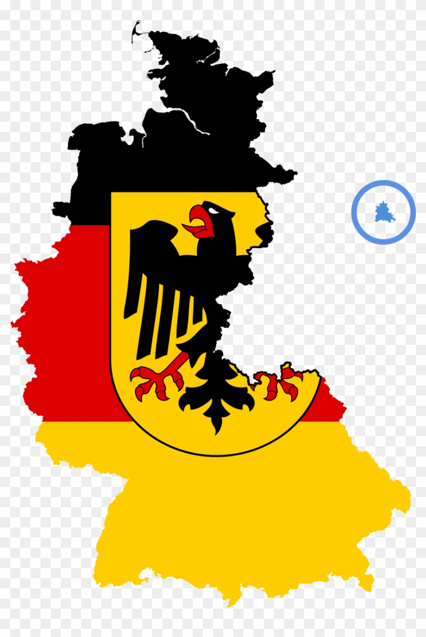 Map Of East West Germany.Flag Map Of West Germany East And West Germany Flag Free