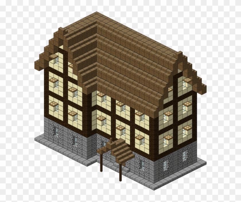 2 Kbyte, V - Minecraft Large Village House Blueprints - Free