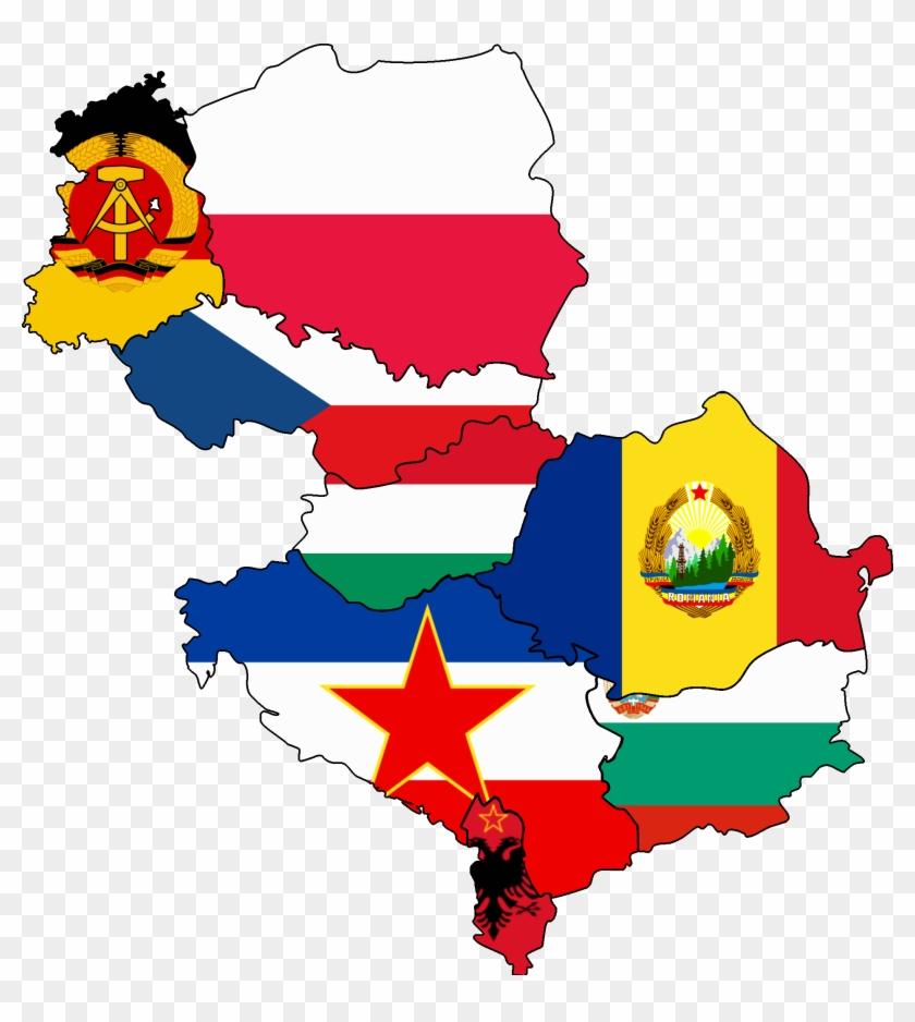 Eastern Europe Flag Eastern Bloc East Germany Map Eastern Europe